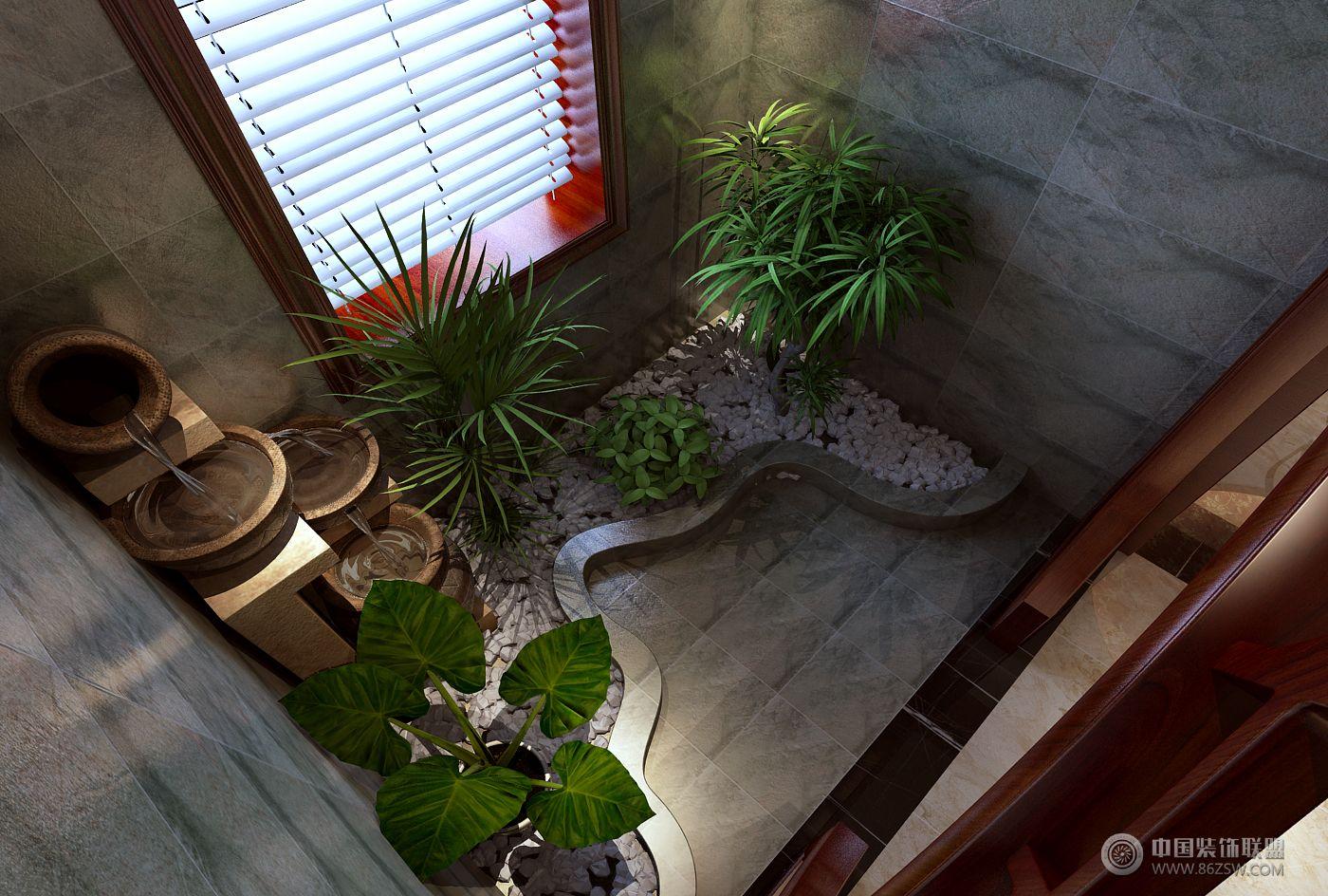 别墅案例中式阳台装修图片