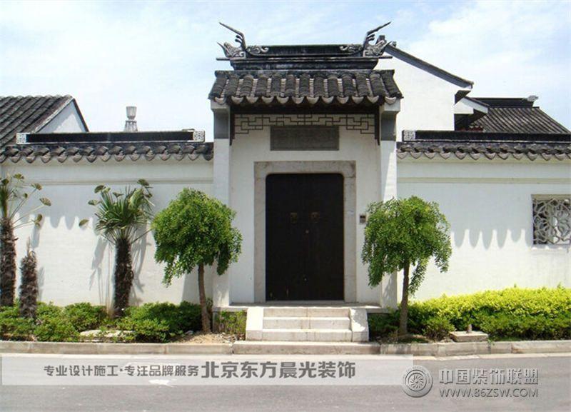 中式门头设计-单张展示-会所装修效果图-八六装饰网