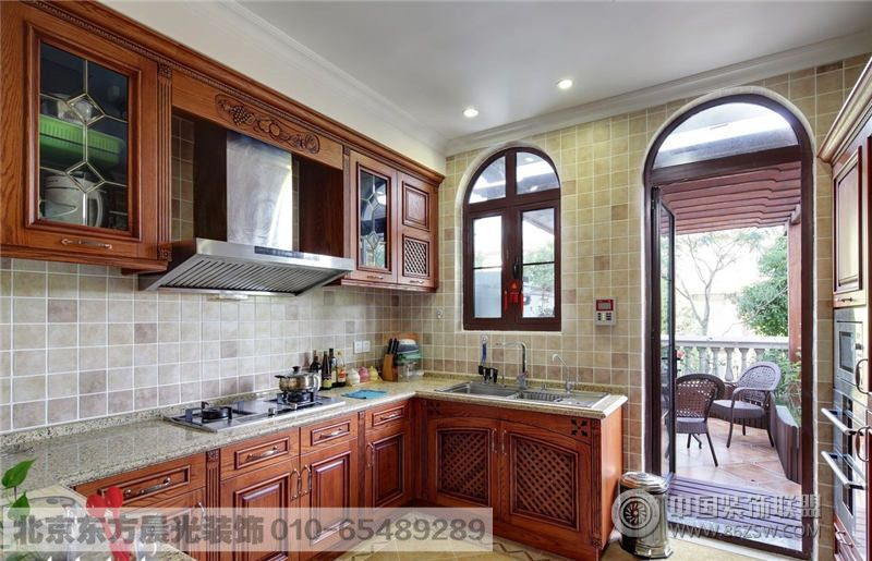 中式装修效果图 中式厨房装修  类型:家装 风格:中式风格 面积:15平米