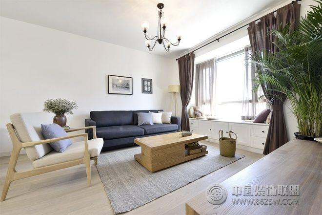 90平简约日式温馨公寓简约客厅装修图片