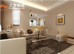 绿城百合125平简约风格装修案例现代风格三居室
