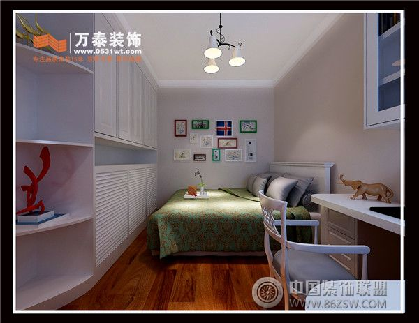 海信慧园90平简约美式风格美式儿童房装修图片