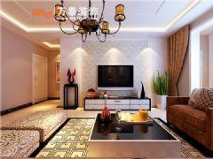 中铁逸都国际132平简约风格现代风格三居室