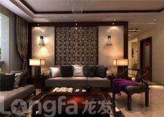 纯棉时代新中式中式风格三居室