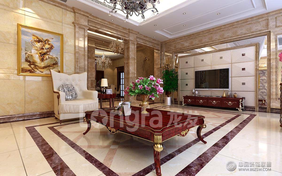 方元别墅欧式欧式客厅装修图片