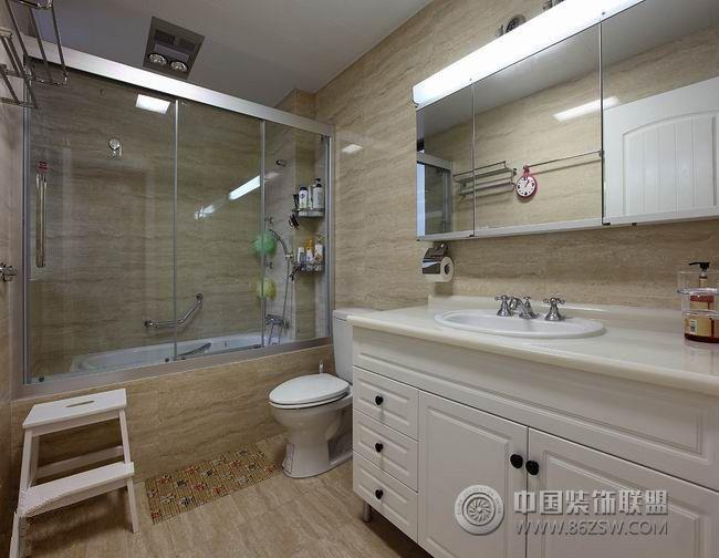 现代简欧分格-客厅装修效果图-八六(中国)装饰联盟