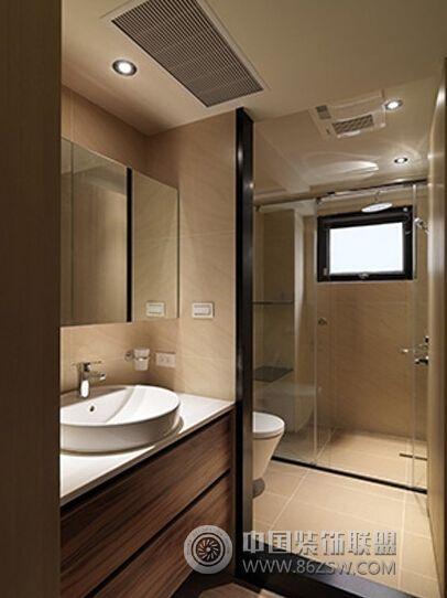 90平简约实木温馨公寓简约卫生间装修图片