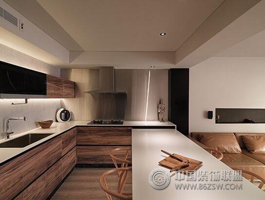 90平简约实木温馨公寓简约厨房装修图片