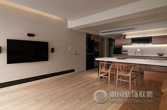 90平简约实木温馨公寓 书房装修效果图 八六装饰网