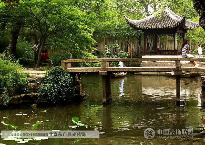 北京中式园林景观_田园大户型装修效果图_八六(中国)