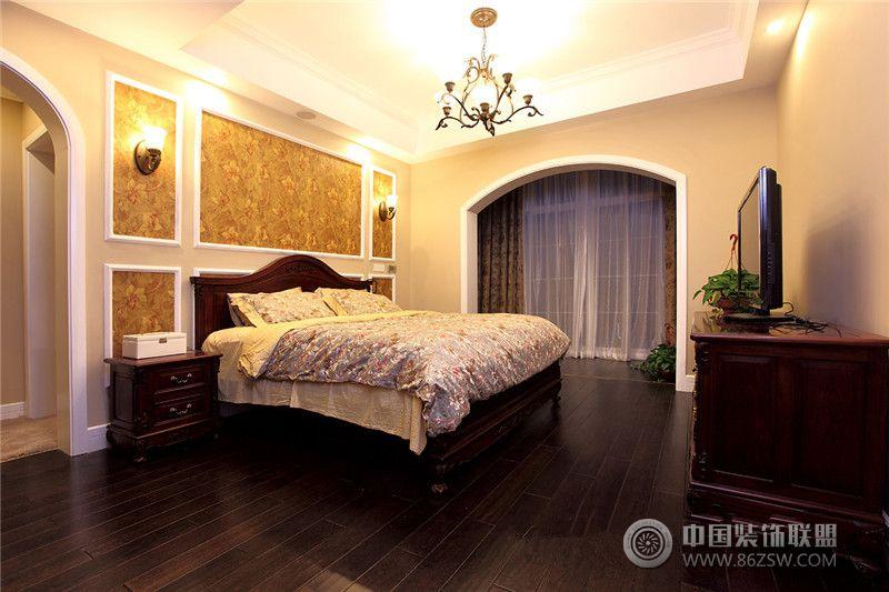 新美式风格_美式三居室装修效果图_八六(中国)装饰(86图片