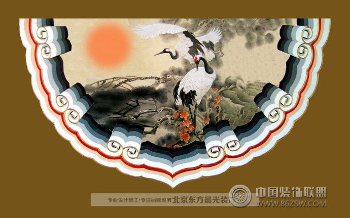 古建筑彩绘_古典大户型装修效果图_八六(中国)装饰(86