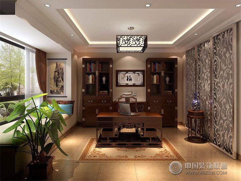 欧美风情380平米四居室书房装修效果图