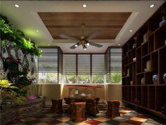 成都尚层装饰别墅装修欧美风格案例效果图(三十)美式风格别墅