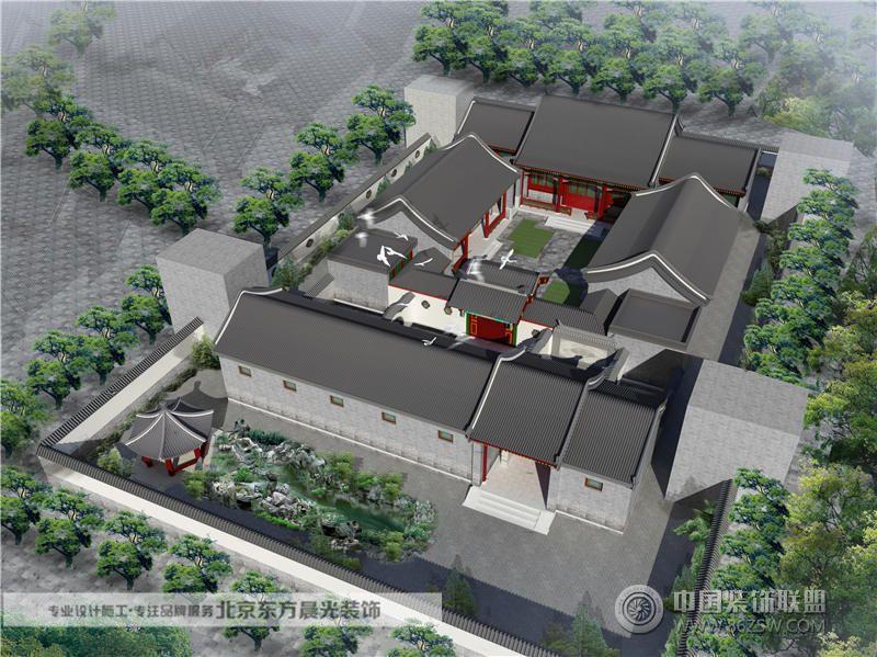 天津四合院设计中式客厅装修图片