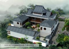 中式仿古四合院装修古典风格大户型