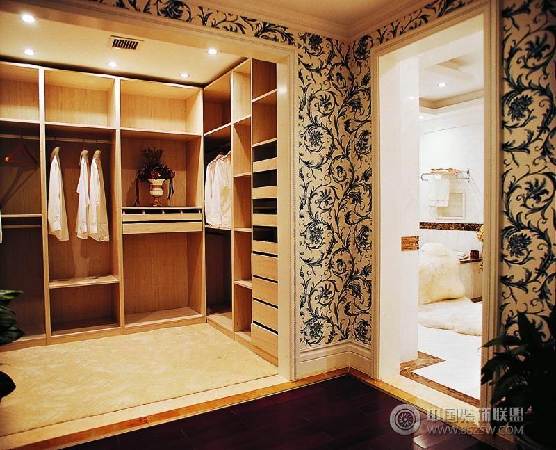 欧式风格卧室装修三室二厅二卫装修案例效果图 91平米设计