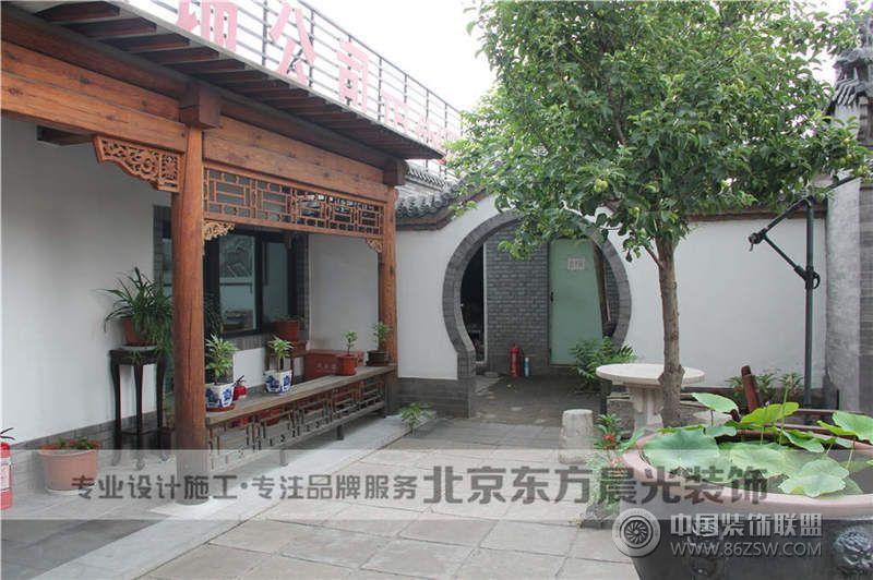 中式仿古四合院设计-客厅装修效果图-八六(中国)装饰