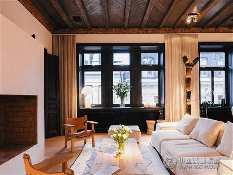 成都尚层装饰别墅装修北欧风格效果图(一)欧式客厅装