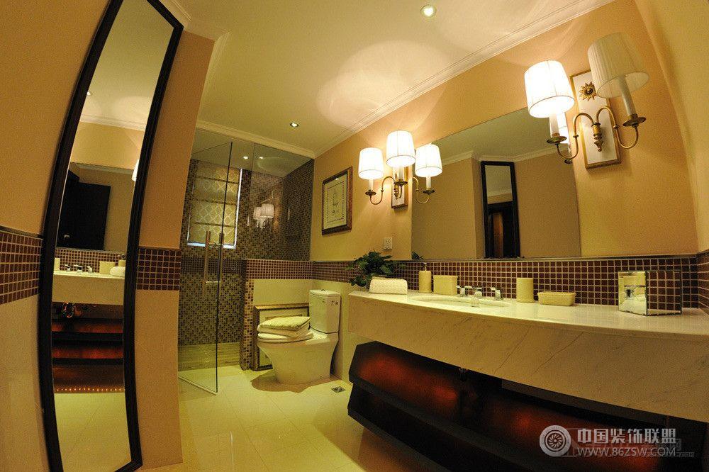 120平时尚温馨欧式欧式卫生间装修图片