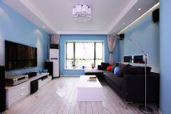地中海蓝地中海风格三居室
