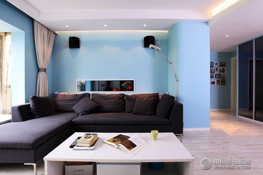 地中海藍-客廳裝修圖片