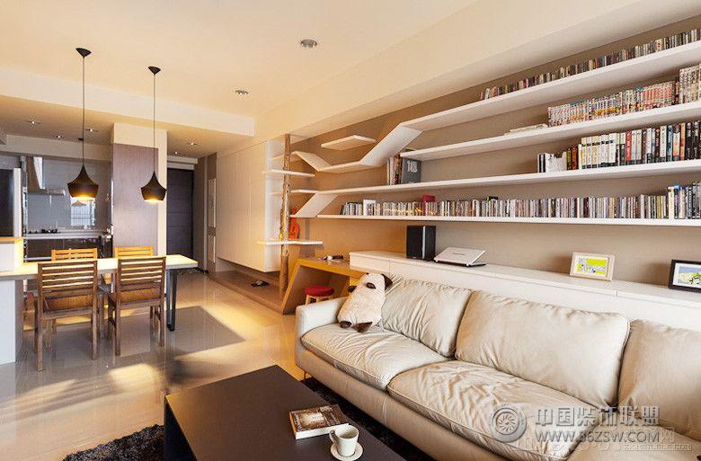 北欧风格二居室装修图欧式书房装修图片