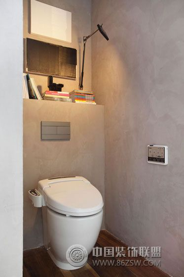 现代工业风复式公寓现代卫生间装修图片