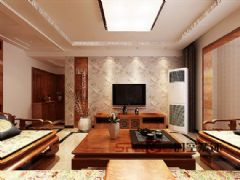 天水丽城二期中式风格三居室