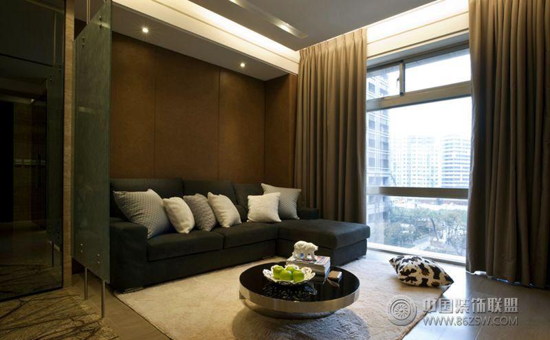 现代风格的小型室内装修图客厅装修图片