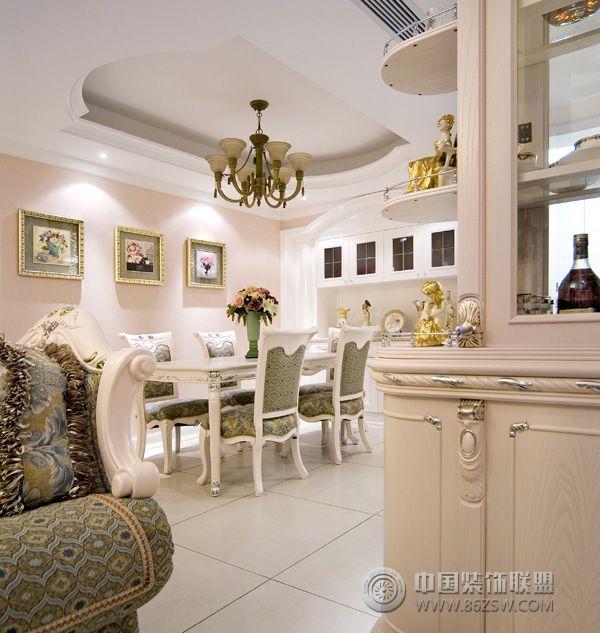 欧式田园四室两厅装修实例-餐厅装修效果图-八六(中国