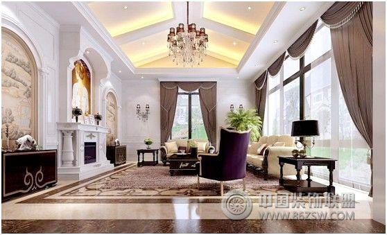 百瑞景御苑别墅欧式风格方案展示欧式客厅装修图片