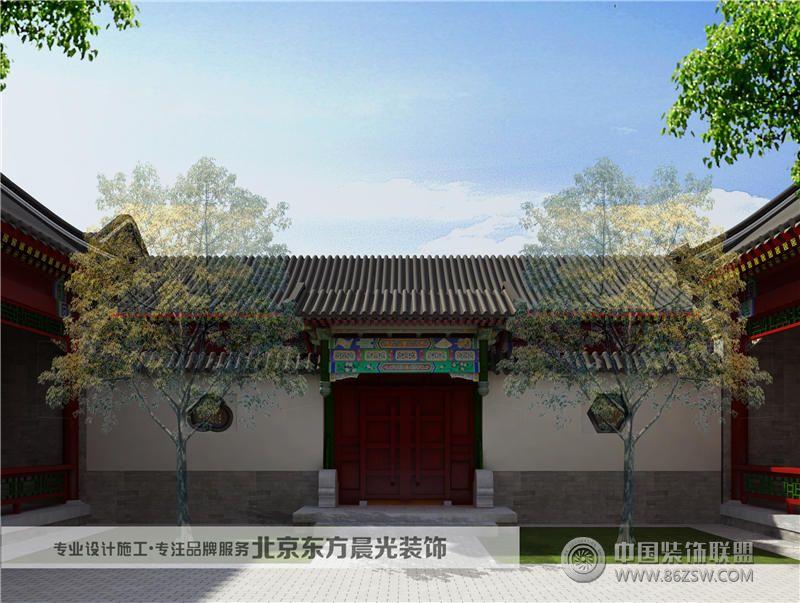 中式四合院设计效果图 餐厅装修图片