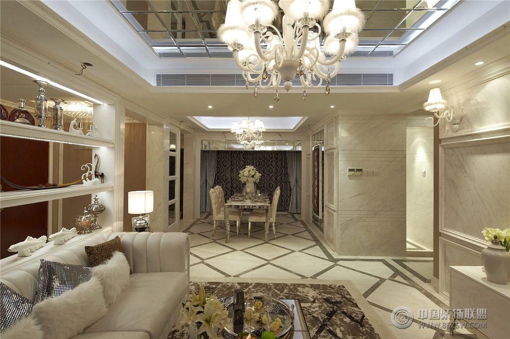 欧式四室两厅豪华装修图-欧式风格装修效果图-八六网图片