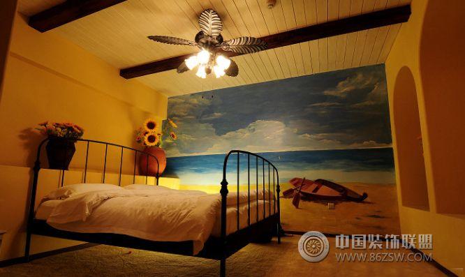 美丽的手绘儿童房装饰图-卧室装修效果图-八六(中国)
