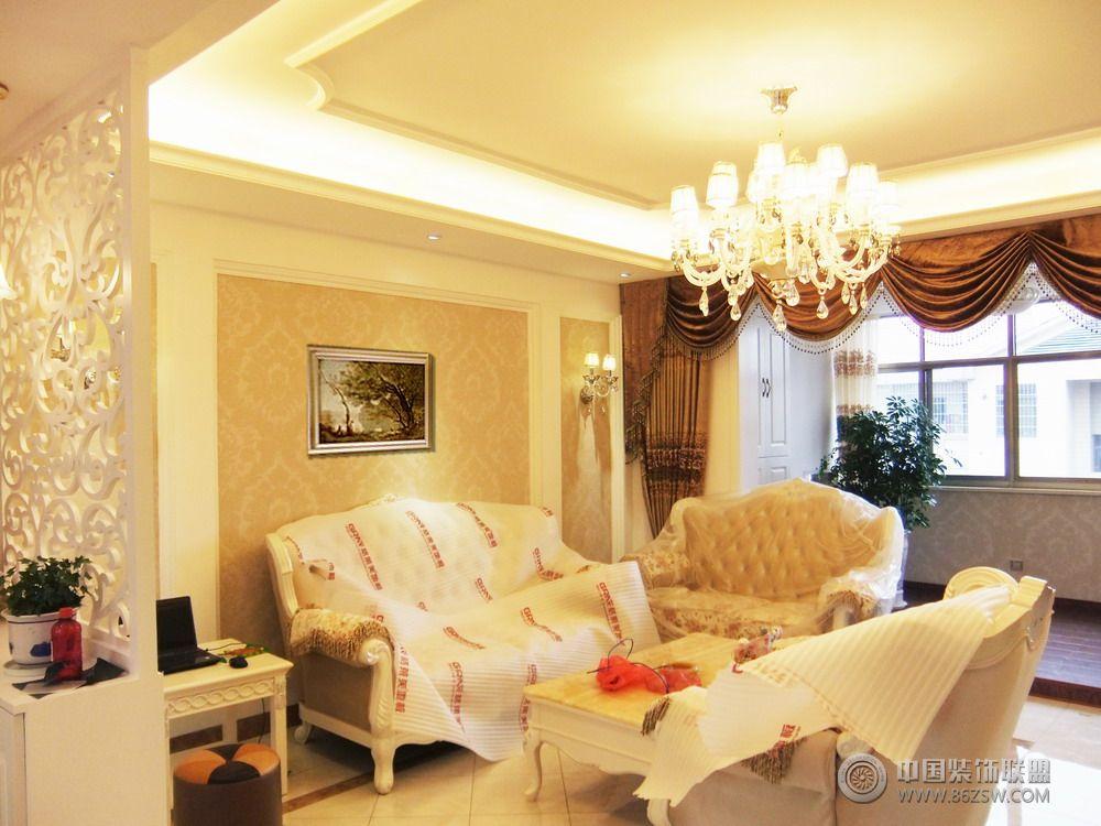 歐式小別墅-客廳裝修圖片