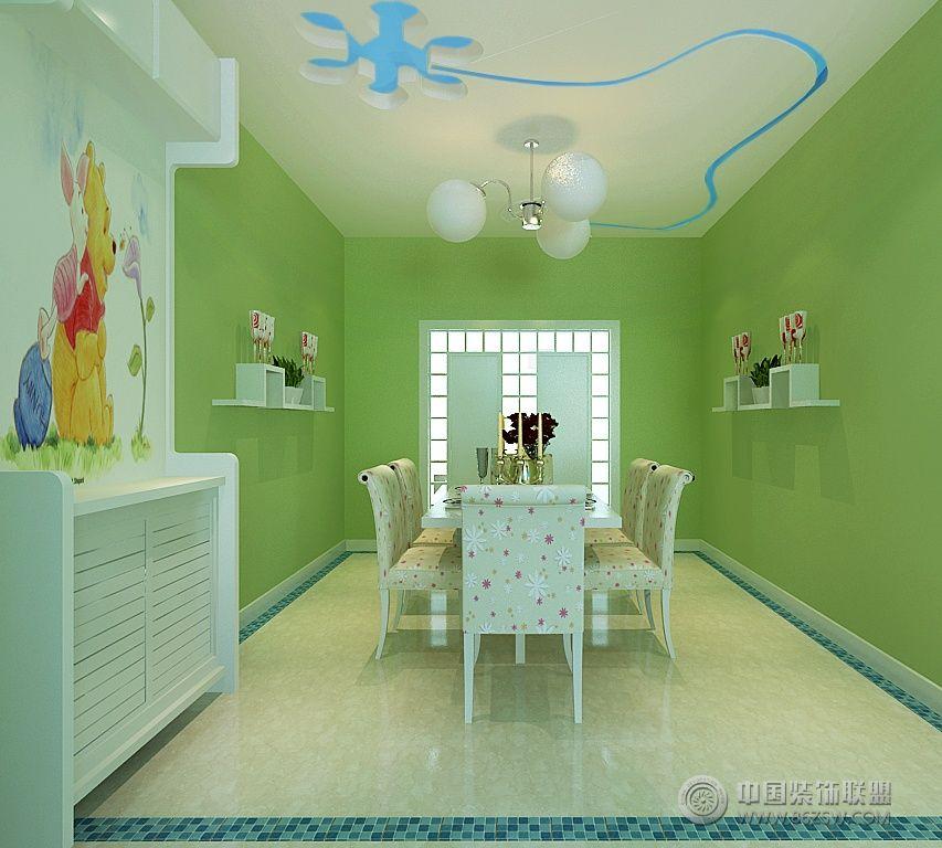 充满活力的90平米地中海风格家居装饰图-餐厅装修图片