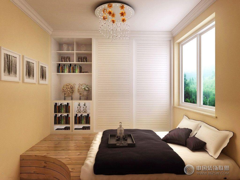 卧室榻榻米装修效果图-书房装修效果图-八六(中国)