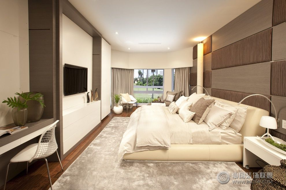 现代简约装修效果图 打造个性简约卧室 欣赏三