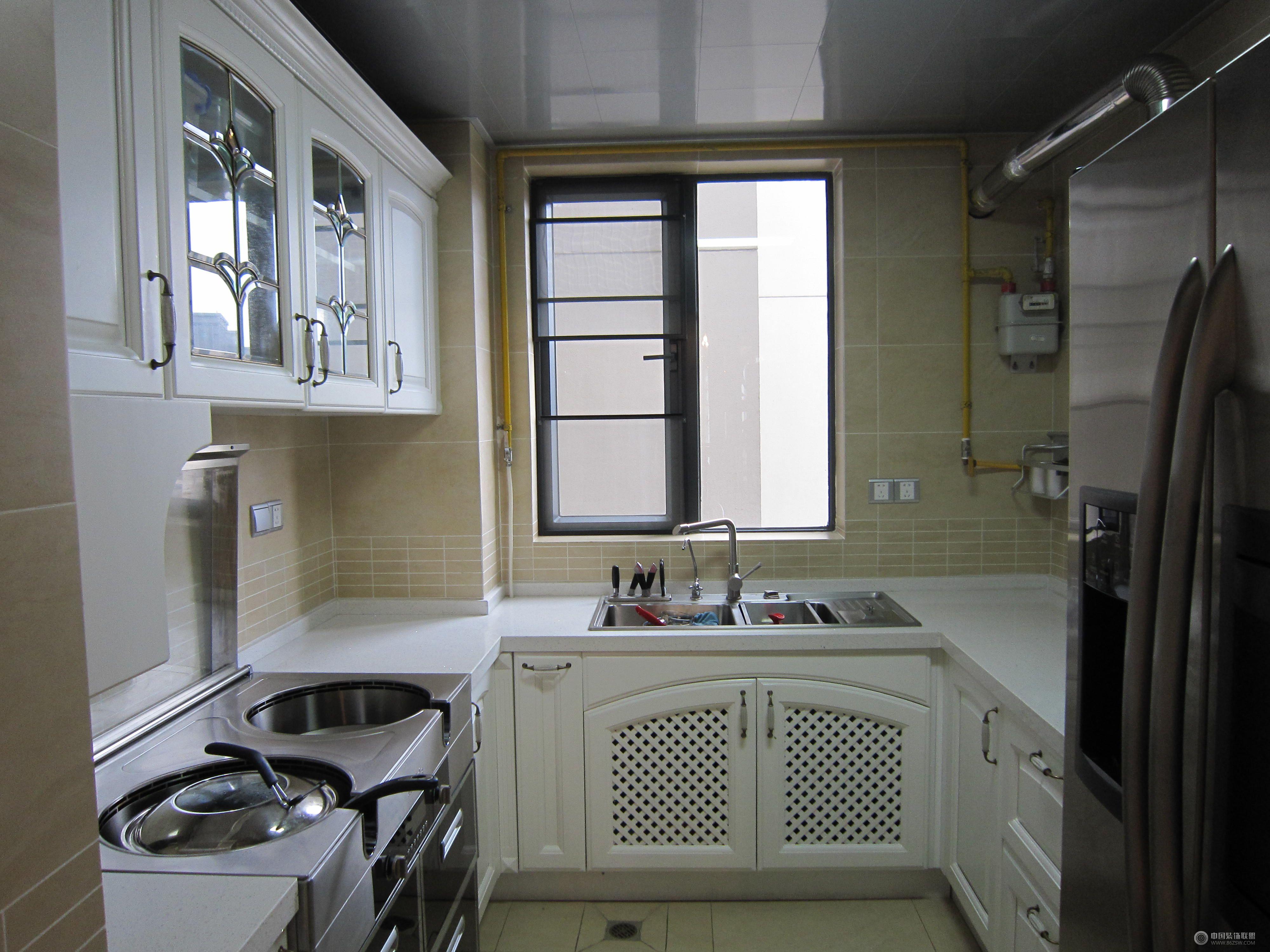 欧式三室两厅-厨房装修效果图-八六(中国)装饰联盟