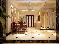成都尚层装饰别墅装修欧式风格效果图(七)欧式风格大户型