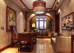 金正帝景城中式风格三居室