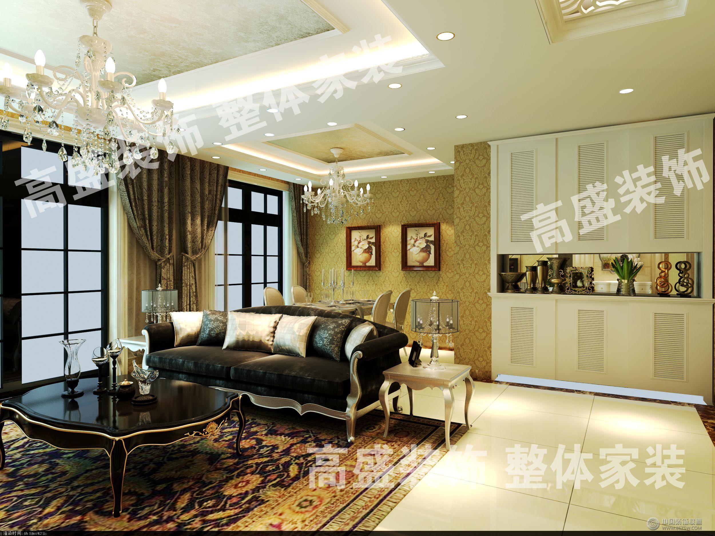 天山熙湖欧式客厅装修图片