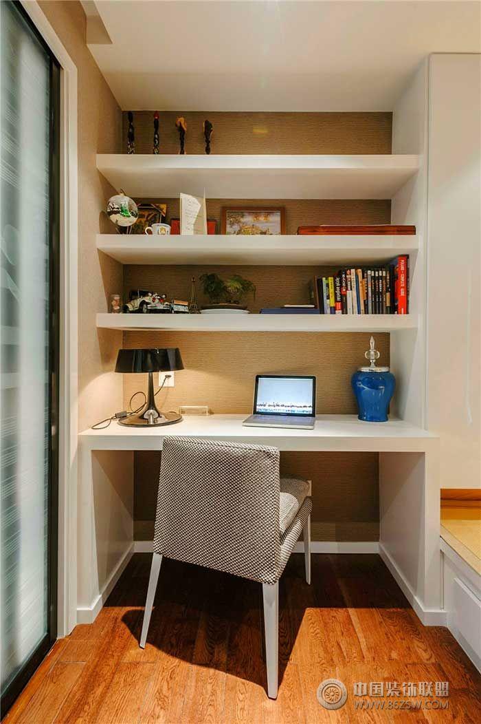 现代小书房设计 土巴兔装修效果图