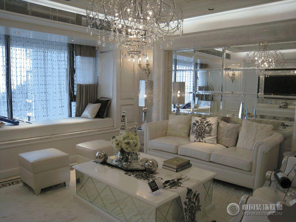 豪华法式两室一厅_混搭大户型装修效果图图片