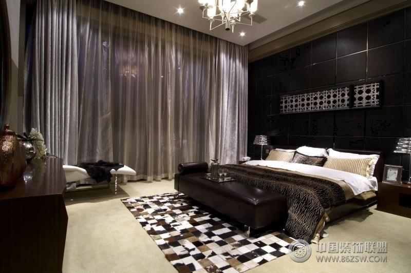现在装修风格的别墅现代卧室装修图片