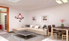 世纪康城现代风格三居室