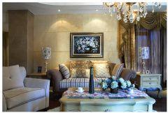 现代欧式风格三居室装饰效果图