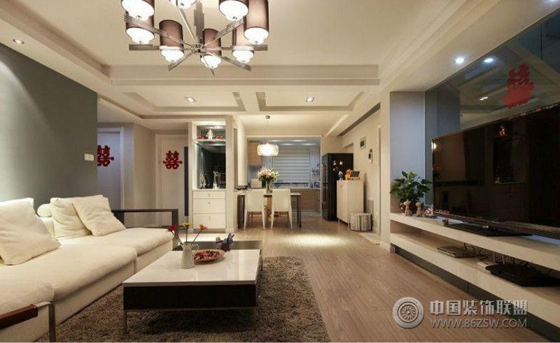 现代风格两室一厅装修图客厅装修图片
