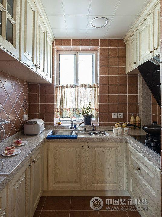 美式80平装修效果图美式厨房装修图片